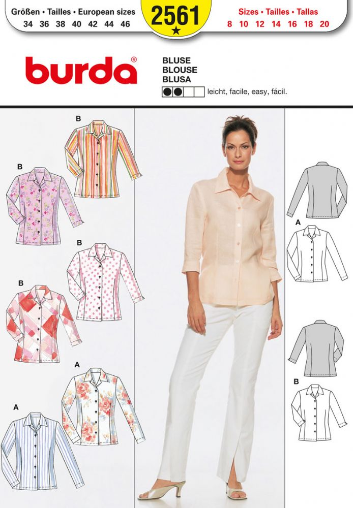 Burda Blouse Pattern Free 6